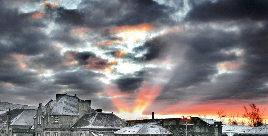 Skipton Railway Station at sunrise