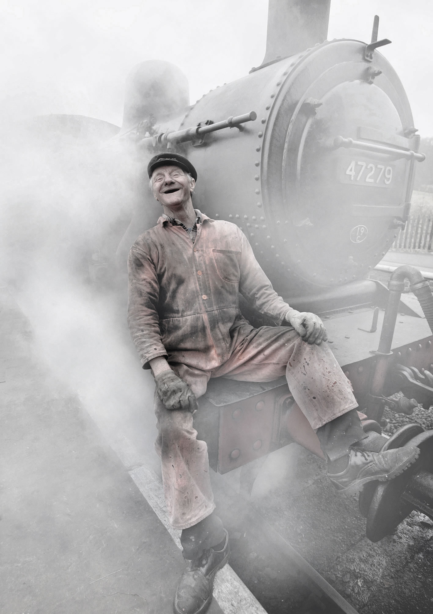 Steam train driver
