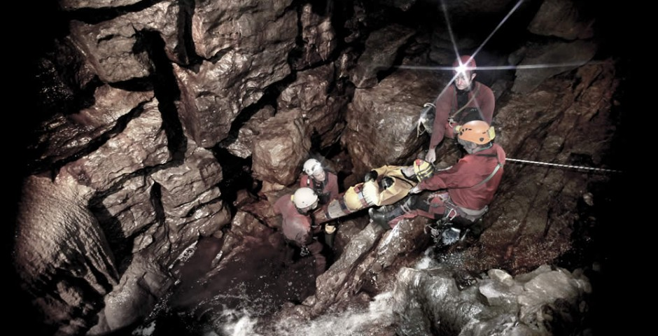 Cave rescue in Yorkshire
