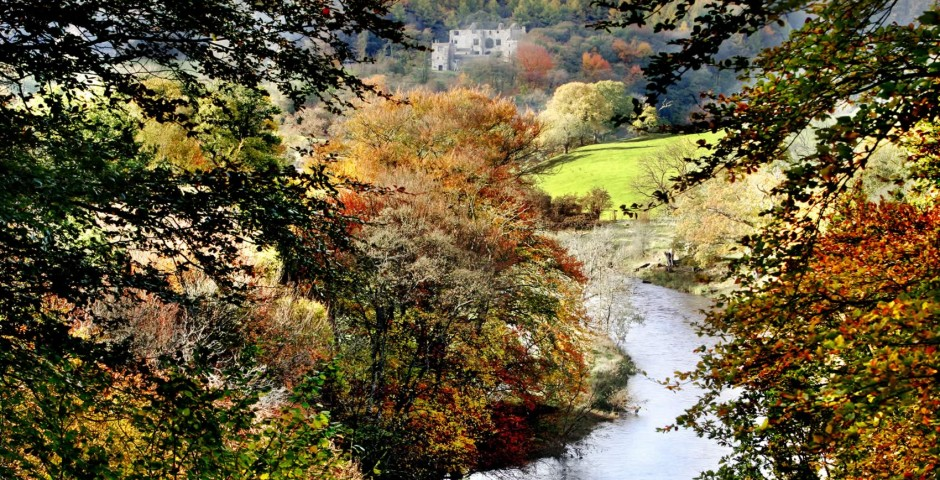 Turners view at Bolton Abbey