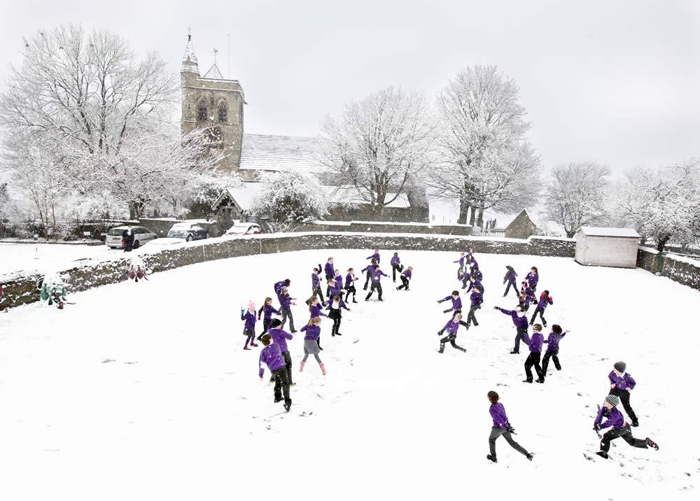 Carleton in the snow