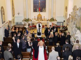 wedding at Hazlewood chapel