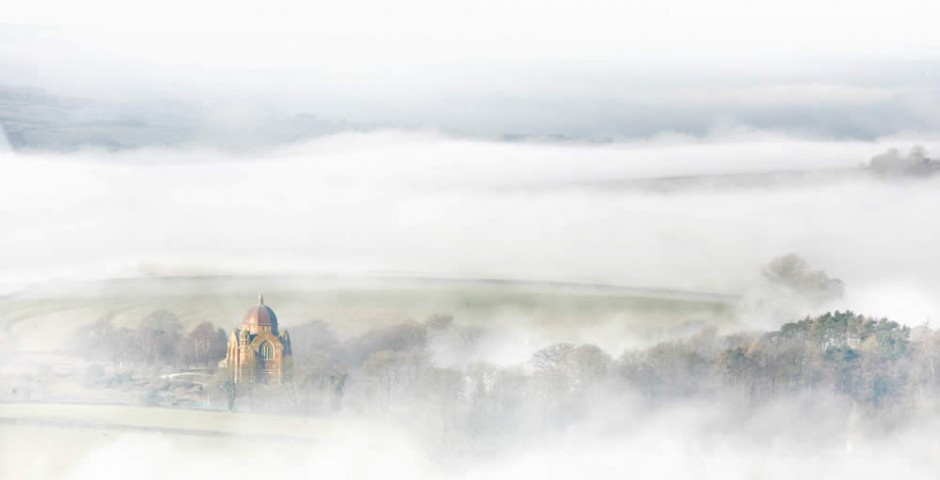 Giggleswick chapel in the mist