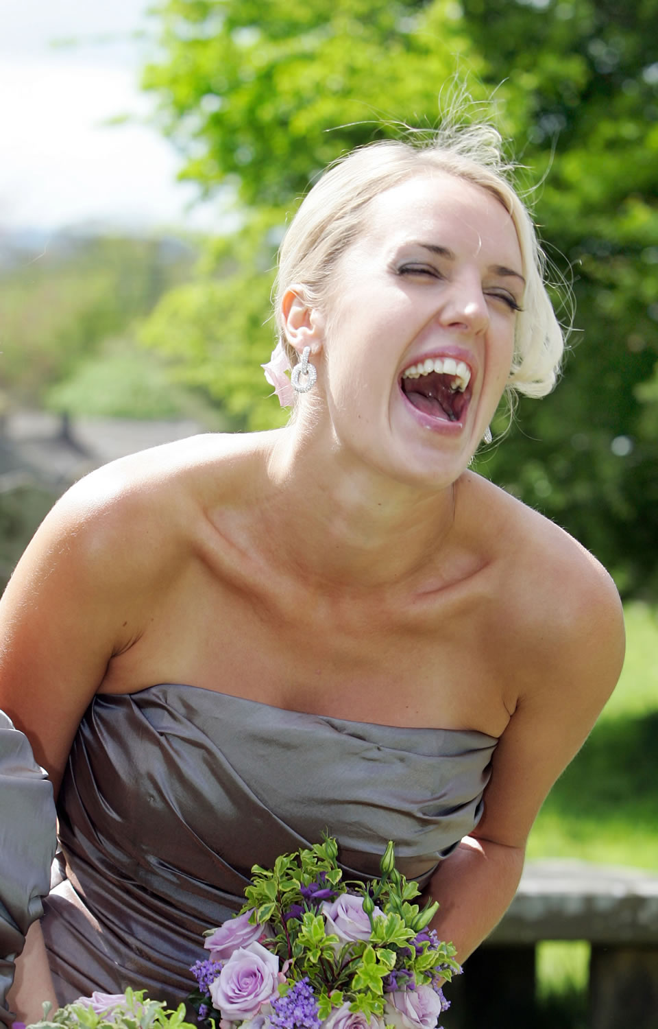 Ecstatic bridesmaid