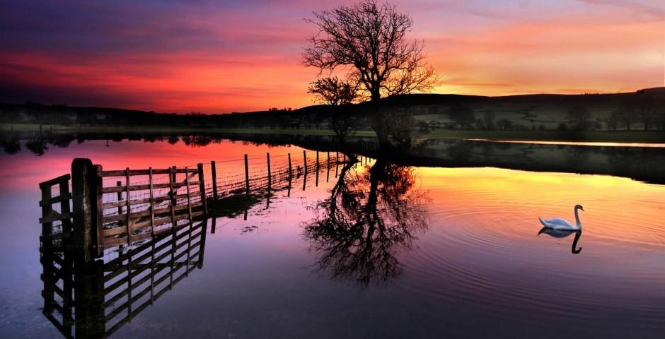 Aire Valley under flood